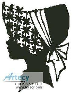 Lady Silhouette 3 cross stitch pattern.