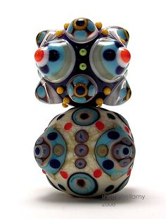 Warring State Glass Beads made by Sherry Bellamy