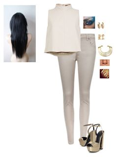 """Halloween 2015 ~ Cleopatra/Mummy"" by hanakdudley ❤ liked on Polyvore featuring Ted Baker, TIBI, KG Kurt Geiger, House of Harlow 1960, Isabel Marant and Bisjoux"