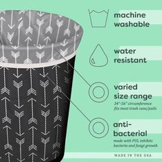 The Planet Wise Reusable Trash Bags are washable, waterproof, and reusable! This means less waste! They are the perfect in-home and office solution for recycling and everyday garbage. No Waste, Reduce Waste, Diy Hanging Shelves, Reduce Reuse Recycle, How To Recycle, Trash Bag, Diy Home Decor Projects, Sewing Projects, Mason Jar Diy