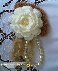 Needles and Brushes: Pink Crochet - Crochet rose Brooche