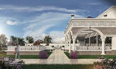 ideas for beautiful landscape design products Modern Bungalow Exterior, Classic House Exterior, Classic House Design, Dream House Exterior, Architecture Collage, Landscape Architecture Design, City Landscape, Islamic Architecture, House Architecture
