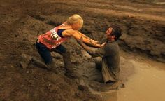 southern couples have a date of a mud fight! thats how its done folks