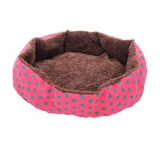 Fashionclubs Puppy Pet Dot Plush Warm Bed Cushion Kennel For Small Dogs And Cats -- You can find out more details at the link of the image. (This is an affiliate link and I receive a commission for the sales)