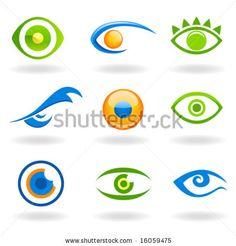set of eye logos vector by sabri deniz kizil, via ShutterStock