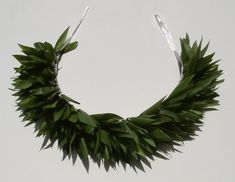 HAKU TI LEAF GREEN to be worn on the head or neck ~~ pretty sure this is what Pua wants us to make for the competition - Hawaiian Flowers, Hawaiian Leis, Tahitian Costumes, Tahitian Dance, Hawaiian Crafts, Ribbon Lei, Flower Lei, Graduation Leis, Leaf Crown