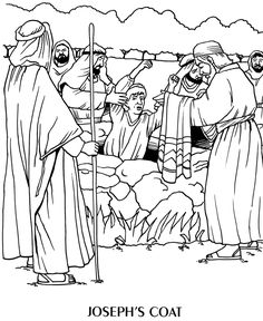 Joseph Bible Coloring Pages | ... Learning System(tm) Coloring Book © 1996 Wesleyan PublishingHouse