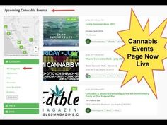 Cannabis Events Page Now Live With Festivals and Conferences