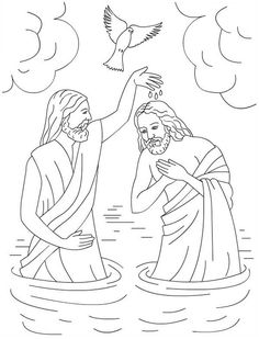 Nicole's Free Coloring Pages: Jesus Loves Me * Bible coloring pages Jesus Coloring Pages, Free Coloring Pages, Coloring Books, Jesus Crafts, Bible Crafts, Jesus Baptism Craft, Jesus Baptised, Sunday School Coloring Pages, Religion Catolica