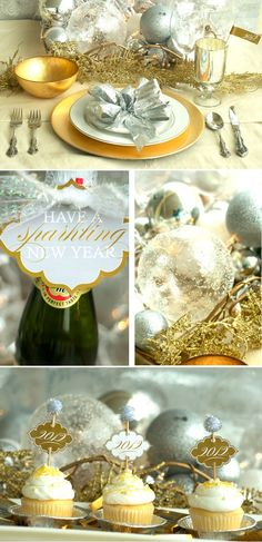 A Sparkling New Year & free printable