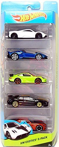 Cars Included: 1. Pagani Huayra 2. Lamborghini Aventador 3. J Porsche 911 T2 4. Lotus Esprit V8 Turbo 5. Alfa Romeo 8C Competizione 5-Pack of Exotic Cars from the Hot Wheels Workshop Collection!...