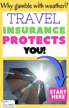 Why gamble on the weather? Travel insurance protects your vacation, wedding, or outdoor event from cancellation due to weather. See how much travel insurance costs, exactly how it protects you, and how it works. #travel #weather #travelinsurance #weatherinsurance #wedding #events #vacation #familytravel #cruise