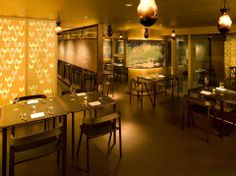 Michael Young designed the 'PISSARRO DINING' in Hong Kong. http://en.51arch.com/2013/12/a2006-pissarro-dining/