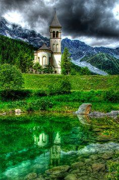 St. Gertrude, Italian Alps, Val D'ultimo Trentino Alto Adige region, Italy