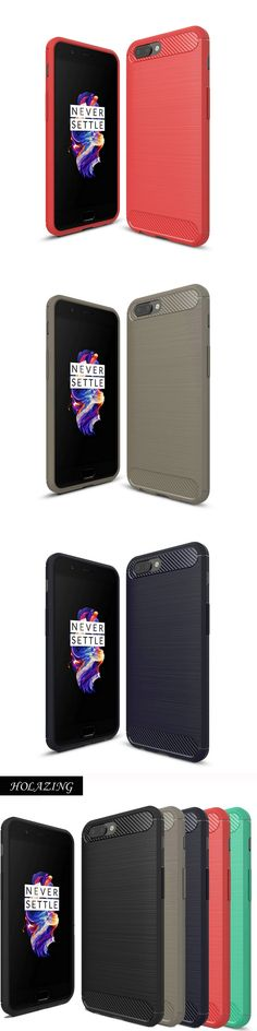 """HOLAZING Luxury Carbon Fiber Bamboo Drawing Printed Durable Soft Silicone TPU Case for OnePlus 5 Cover for OnePlus5 5.5"""""""