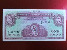 £1 British Forces Banknote Serial Number K/2 427322 Personalised Initial K