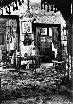 Victorian Interior. I have that cat!