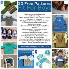 20 Free Patterns Fit For Boys