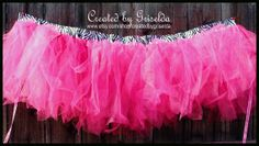 High Chair Tutu Skirt by CreatedforMe on Etsy http://www.etsy.com/ca/shop/CreatedforMe  Birthday Banner, Minnie Mouse, hot pink, black, photo prop, cake smash, photography banner, 21st birthday, 1st birthday, high chair banner, zebra, paper, die cut,  birthday, graduation, 21st, 40th, 50th, polka dot, etsy, handmade, minnie, disney, cake, center piece, centerpiece, cupcake, cup cake, decoration,