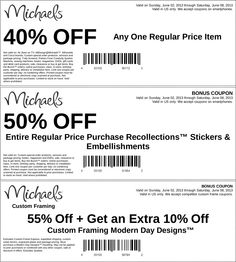 pinned june 2nd 40 off a single item and more at michaels coupon via - Michaels Framing Coupon