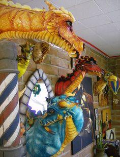 Wonderful Dragon Taxidermy by mistyscreations * Dragon Fantasy Myth Mythical Mystical Legend Dragons Wings Sword Sorcery Art Magic Paper Mache Sculpture, Sculpture Projects, Sculpture Art, Dragon Head, Dragon Art, Dragon Puppet, Foam Carving, Art Optical, Dragon Costume