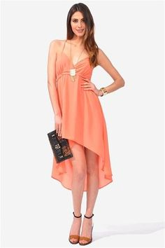 Midsummer Nights Dress - Peach