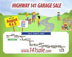 2017 is the Highway 141 Garage Sale Event's 15th Anniversary!