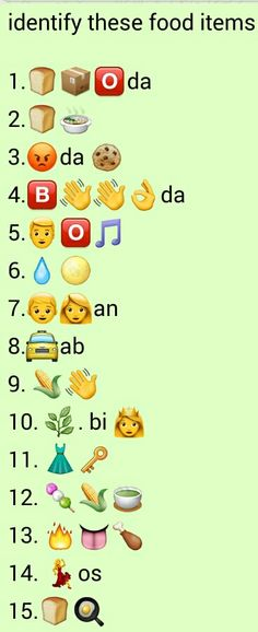 Hey folks, here you will get the latest collection of whatsapp puzzles and games,whatsappp games and whatsapp puzzles with answers.We have large collection of whatsapp puzzles with answers,whatsapp dare games and whatsapp quiz with answers. Guess The Emoji Answers, Quiz With Answers, Ladies Kitty Party Games, Kitty Games, Emoji Quiz Games, Wallpaper Food, Emoji Wallpaper, Puzzles And Answers, Emoji Puzzle
