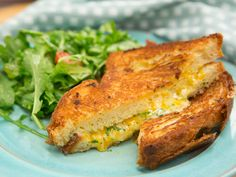 Buttery Brioche Grilled Cheese recipe from Geoffrey Zakarian via Food Network