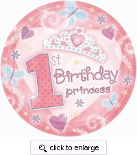 Our First Birthday Tiara party supplies are sure to make your little princess feel extra special on her birthday.