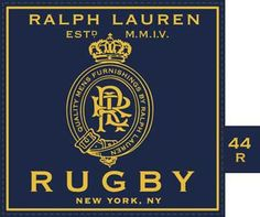ROB HOWELL MEN'S Suit Label for RUGBY RALPH LAUREN