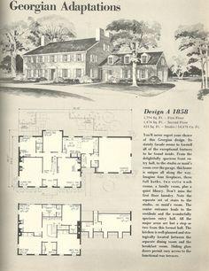 vintage house plans georgian