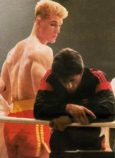 Sylvester Stallone Rocky 4 Behind the Scenes   Rocky IV: behind the scenes pictures from the shoot   Den ...