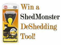 Pet owners! Join & win this DeShedding Tool for your hairy pets! Worldwide Giveaway