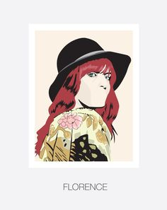 Florence Welch, Florence and the Machine. and Hand and Digitally Drawn Poster. By Mike Moran Florance And The Machine, Art Pictures, Art Images, Florence The Machines, Florence Welch, Sleeve Tattoos, Hand Drawn, Pop Art, Art Ideas