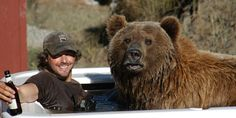 This is Casey Anderson and his pet bear Brutus.