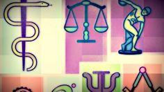 #DuvidaCruel: Qual o significado dos símbolos das profissões? ↪ Por @jpcppinheiro. Lembra-se daqueles símbolos que os profissionais tanto gostam de colocar em seus cartões de visitas? Você sabe o que eles significam? Veja só! http://www.curiosocia.com/2015/06/qual-o-significado-dos-simbolos-das.html