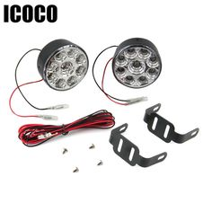 7.08$  Watch now - http://alisi5.shopchina.info/go.php?t=32799314941 - ICOCO 9 LED Round Daytime Driving Running Light 2.7W LED DRL light White  Size approx 70 x 50mm Drop Shipping  #buychinaproducts