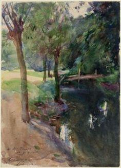Artist: John Singer Sargent, The Shadowed Stream, aquarelle, Musée des Beaux-Arts de Boston.