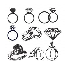 diamond ring clipart black and white ring wedding rings