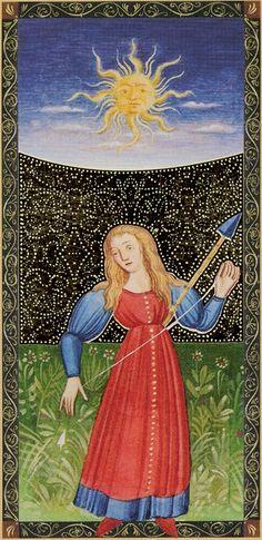 XIX - Le soleil - Golden Tarot of Renaissance par Giordano Berti & Jo Dworkin