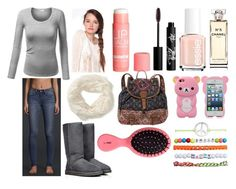 """""""cute outfit!"""" by gabigirl00 ❤ liked on Polyvore featuring J.TOMSON, Hollister Co., Aéropostale, Essie, H&M, Rouge Bunny Rouge, Chanel, Billabong, UGG Australia and Wet Seal"""