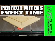 Miter Saws One of the most annoying things to me in the world of woodworking is getting perfect miters on a miter saw. Sounds silly, right? I mean, a miter saw is supposed to cut miters. Most miter saws even … Jet Woodworking Tools, Woodworking Furniture, Woodworking Projects, Woodworking Jigsaw, Jays Custom Creations, Wood Jig, Wood Wood, Miter Saw Reviews, Sliding Compound Miter Saw