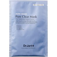 Dr. Jart+ Pore Medic Pore Clear Mask ($6) ❤ liked on Polyvore featuring beauty products, skincare, face care, face masks, fillers, beauty, blue fillers, makeup, cosmetics and moisturizing mask