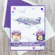 This project uses the Plane Awesome set by Kindred Stamps. Check out my blog for more information!