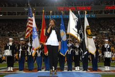 Sing the National Anthem at an NFL football game!