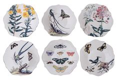 One Kings Lane - Breezy Accents - Stoneware Nature Plates, Asst. of 6
