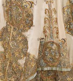 Mode Vintage - Détail d'une Robe de Soirée - Worth - 1896-1900