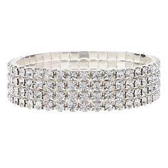[BlackFridaySale]Brimmy Silver Plated Crystal Bracklet – USD $ 4.99