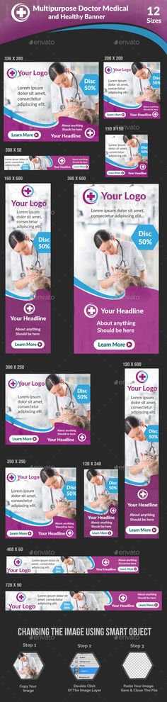 Multipurpose Doctor Medical and Healthy Banner — Photoshop PSD #spa #doctors • Available here → https://graphicriver.net/item/multipurpose-doctor-medical-and-healthy-banner/17234995?ref=pxcr